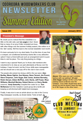 Newsletter Issue 245