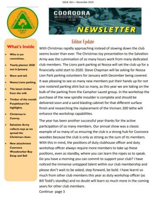 Newsletter Issue 261